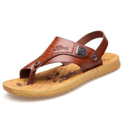 牧惠森夏季男士涼拖鞋青年涼鞋休閑鞋夾趾人字拖男鞋2577