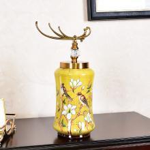 墨菲 歐式田園陶瓷大花瓶插花花藝擺件創意美式鄉村客廳餐桌裝飾