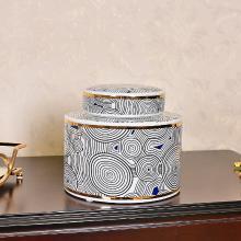 DEVY 新中式陶瓷花瓶花艺装饰品摆件家居客厅桌面玄关收纳罐摆设