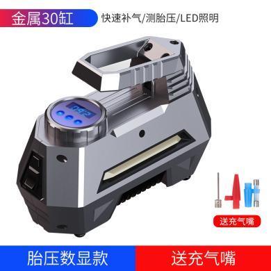 車載充氣泵12v小轎車便攜式汽車用打氣泵電動輪胎多功能加氣泵筒