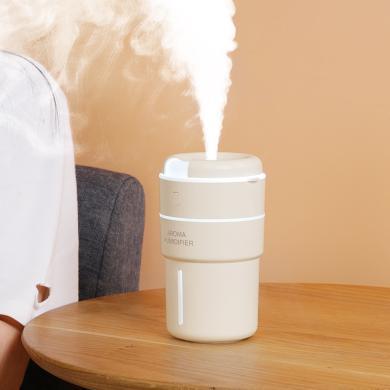 空气加湿器迷你家用卧室喷雾办公室静音精油香薰大容量usb带灯