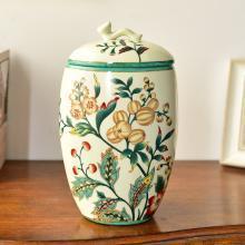 墨菲 美式复古陶瓷收纳储物罐新中式玄关客厅样软装收纳饰品摆件