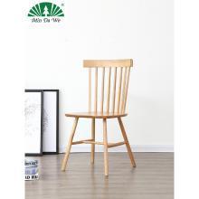 名達威北歐椅子靠背實木家用餐廳現代簡約客廳單人白橡木溫莎餐椅