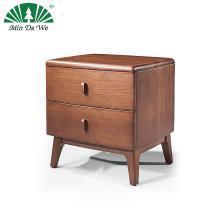 北欧全实木床头柜简约现代白蜡木整装免安装卧室双抽屉储物床边柜