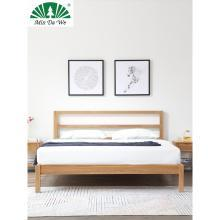 名达威北欧风格床实木主卧现代简约小户型可拆洗布艺靠背软包床