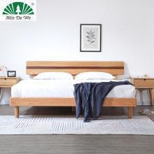 名达威北欧纯全实木双人床1.8米1.5米现代简约主卧家具白橡木床