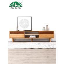 名達威北歐電視柜實木客廳簡約小戶型地柜全實木白橡木電視機柜