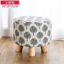 換鞋凳現代簡約小矮凳實木圓凳創意門口穿鞋凳子布藝沙發凳