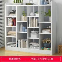 简易书柜书架现代简约落地置物架多功能创意小书柜经济省空间书橱