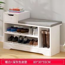 換鞋凳北歐軟包坐墊家用小戶型門口小凳子多功能進門玄關鞋架鞋柜