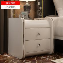 卧室家具皮质床头柜简约现代欧式储物柜迷你小宿舍边柜床边小柜子