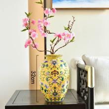 墨菲美式復古手繪陶瓷花瓶擺件家居干花插花電視柜玄關裝飾品擺設
