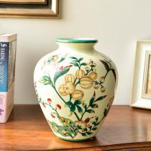 墨菲 美式鄉村彩繪陶瓷花瓶插花器客廳家居玄關裝飾餐桌軟裝擺件