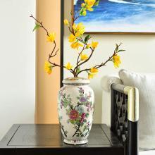 墨菲歐式田園復古陶瓷花瓶美式客廳電視柜玄關裝飾擺件仿真插花器