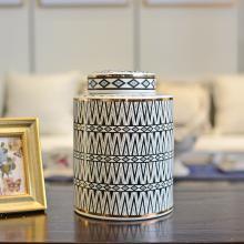 DEVY 美式陶瓷花瓶仿真花藝套裝擺件現代輕奢家居裝飾品玄關擺設