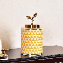 DEVY 現代輕奢陶瓷花瓶套裝新中式創意玄關客廳樣板間裝飾品擺件