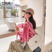 七格格白色襯衫女2019新款秋季娃娃衫上衣韓版寬松設計感長袖襯衣