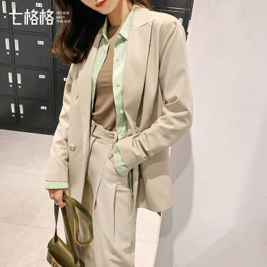 七格格西裝外套女韓版休閑時尚上衣2019新款秋季氣質長袖小西服潮