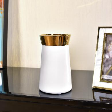 DEVY現代輕奢陶瓷水培花瓶簡歐客廳電視柜仿真花藝插花器裝飾擺件
