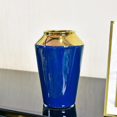 DEVY 現代輕奢陶瓷水培花瓶擺件簡歐創意客廳餐桌仿真花藝插花器