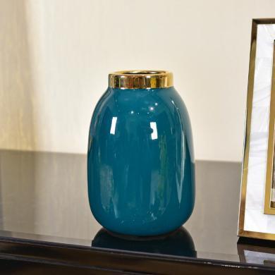 DEVY 簡歐輕奢陶瓷水培花瓶現代客廳餐桌裝飾擺件仿真花藝插花器