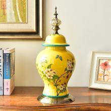墨菲 美式輕奢陶瓷擺件新中式復古客廳玄關樣板房間軟裝飾品擺設