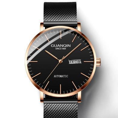 冠琴男士全自動機械表薄款簡約時尚男表精鋼防水商務2020新款潮流手表