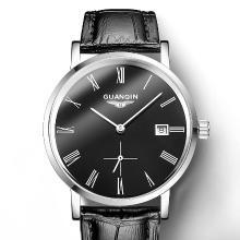 冠琴手表男防水時尚新款超薄簡約男表全自動機械表精鋼帶男士手表