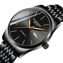 正品冠琴手表男机械表全自动防水简约超薄男士手表时尚潮流男腕表