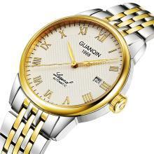 冠琴手表男全自動機械表防水鋼帶潮商務鏤空瑞士2019新款男士手表
