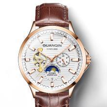 冠琴手表男士机械表防水时尚潮流新款全自动飞轮男表镂空腕表