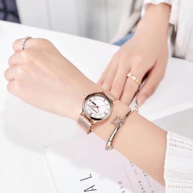 冠琴2019新款手表女學生超薄韓版簡約女士手表大氣防水時尚潮流