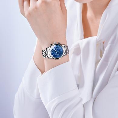 冠琴正品女表时尚大气防水石英手表女新款钢带气质韩版百搭女腕表