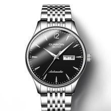 冠琴手表男机械表中国名牌时尚潮全自动精钢带夜光防水男士腕表