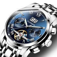 冠琴男士手表全自动机械男表精钢防飞轮潮商务休闲2019新款腕表