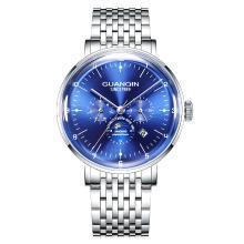 冠琴正品男士手表機械表全自動鏤空防水多功能鋼帶時尚潮流手表男