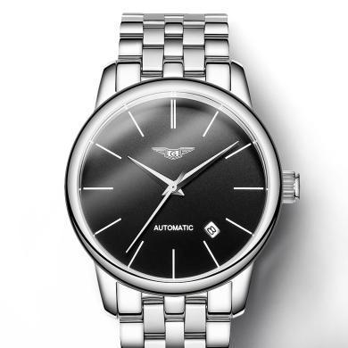 冠琴男士手表全自動機械表防水款薄款青年手表男潮學生精鋼休閑表