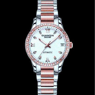 新款正品冠琴女表全自動機械表防水簡約手表女水鉆時尚學生女手表