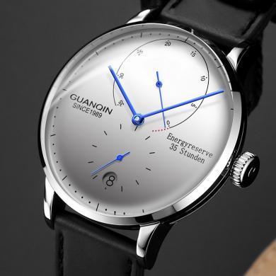 冠琴手表 全自動機械表精鋼防水男士手表2020真皮帶男表鏤空潮流腕表
