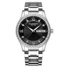 冠琴正品男表石英表双历防水时尚夜光手表男士商务潮流腕表