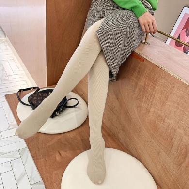 七格格女士冬季连裤袜子女两双装2019新款韩版显瘦加绒打底裤子潮
