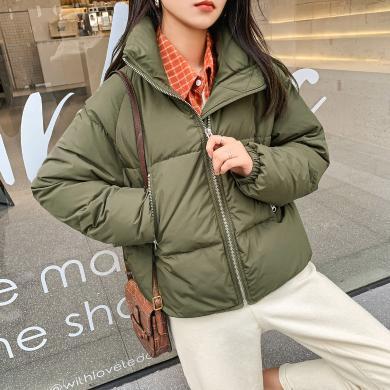 七格格时尚轻薄羽绒服女短款2019新款韩版宽松显瘦学生冬季外套潮