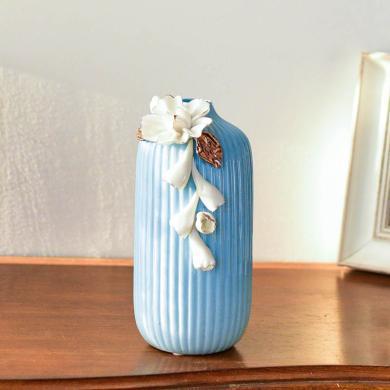 DEVY 现代简约手捏陶瓷水培花瓶简欧客厅创意摆件家居干花插花器