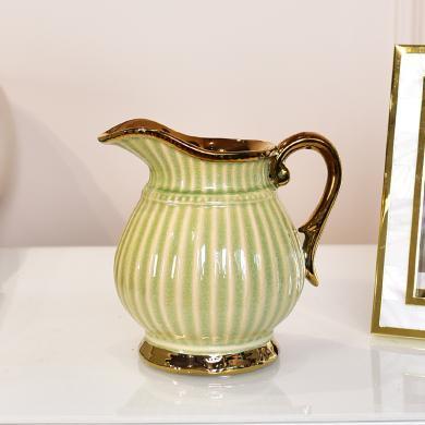 DEVY歐式輕奢陶瓷花瓶現代簡約客廳茶幾餐桌花藝家居裝飾品擺件
