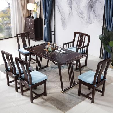 茶桌椅組合新中式功夫茶幾藝道仿古家具會客泡茶實木茶桌茶臺