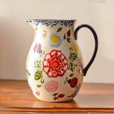 墨菲歐式田園陶瓷花瓶擺件美式鄉村客廳插花干花器家居裝飾品花藝
