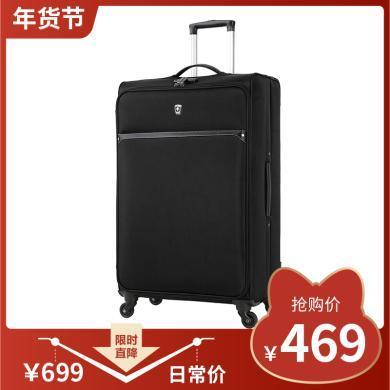 瑞動(SWISSMOBILITY) 30英寸拉桿箱MT-5560萬向輪行李箱輕旅行箱 30寸 MT-5560 忍者黑