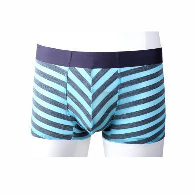 卡斯賓2020春夏新款2條裝男士蟬翼超薄無痕條紋空氣平角褲