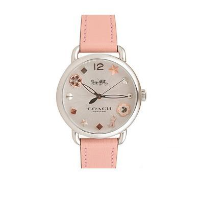 【支持購物卡】COACH蔻馳皮表帶女士手表