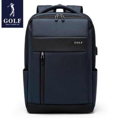 高爾夫/GOLF雙肩包男書包大學生女電腦包出差旅行包商務男士背包大容量  D933849